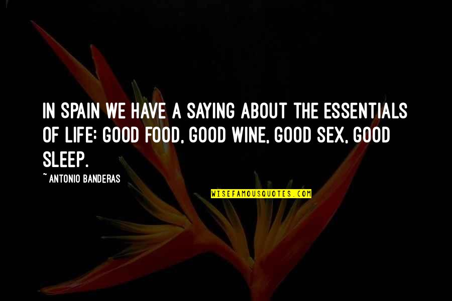 Good Sleep Quotes By Antonio Banderas: In Spain we have a saying about the