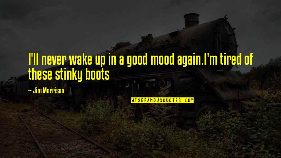 Good Sleep Quotes By Jim Morrison: I'll never wake up in a good mood
