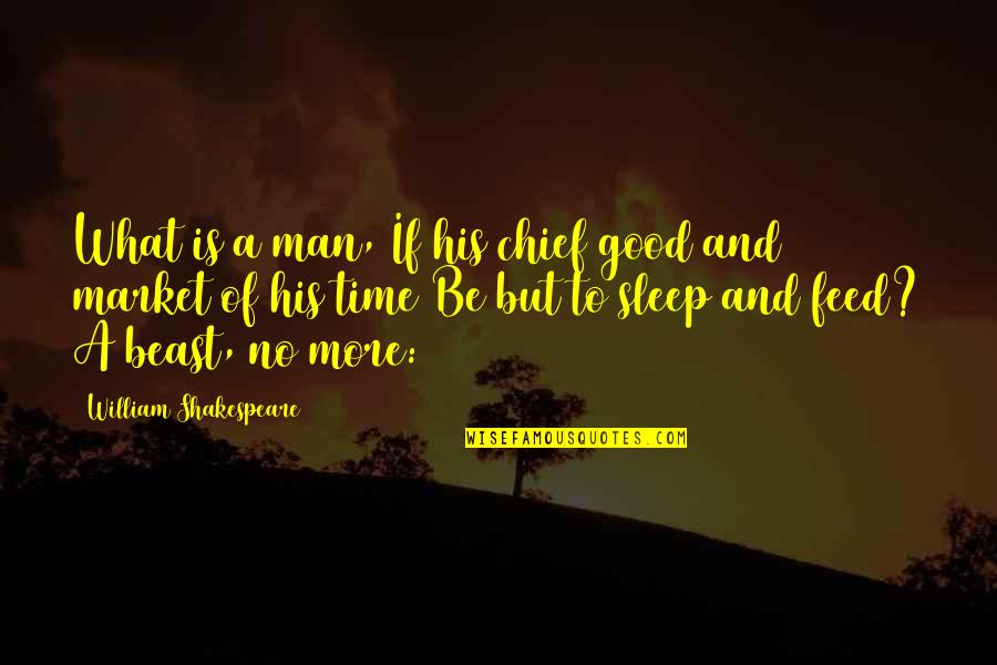 Good Sleep Quotes By William Shakespeare: What is a man, If his chief good