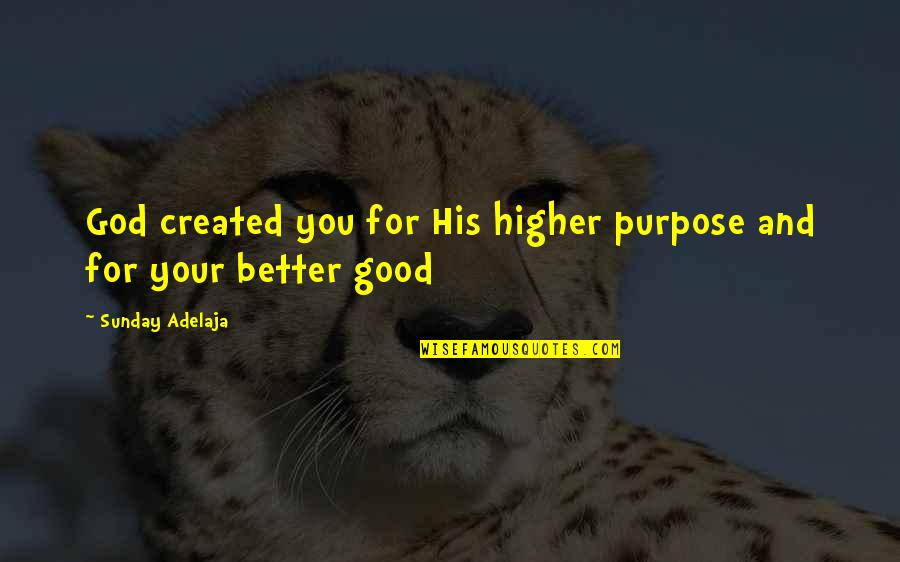 Good Sunday Quotes By Sunday Adelaja: God created you for His higher purpose and