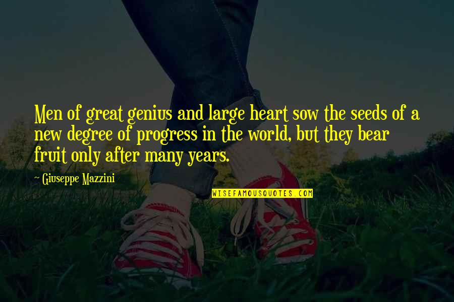 Good Twitter Usernames Quotes By Giuseppe Mazzini: Men of great genius and large heart sow