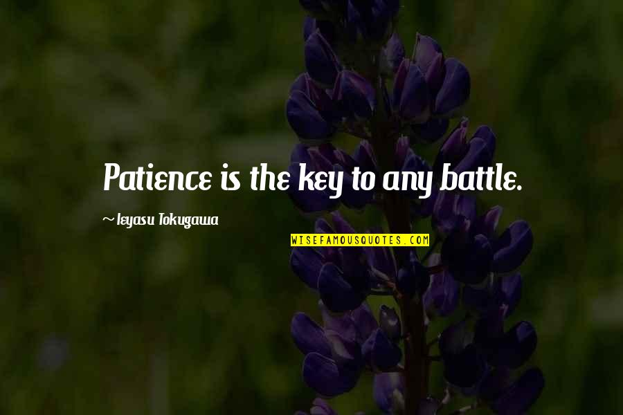 Goodbye To Friends Quotes By Ieyasu Tokugawa: Patience is the key to any battle.