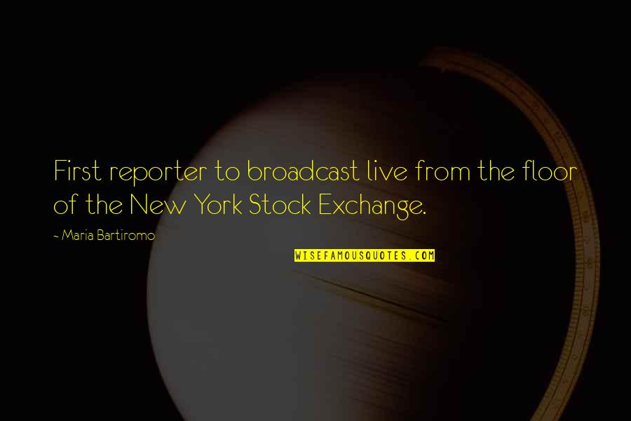 Google Stock Quotes By Maria Bartiromo: First reporter to broadcast live from the floor