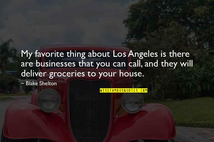 Google Web Services Stock Quotes By Blake Shelton: My favorite thing about Los Angeles is there