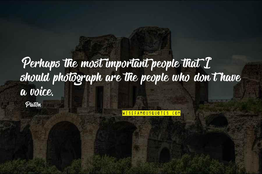 Gorrym Quotes By Platon: Perhaps the most important people that I should