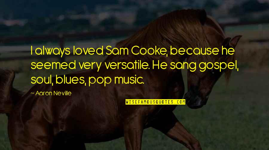 Gospel Music Quotes By Aaron Neville: I always loved Sam Cooke, because he seemed