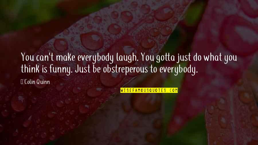 Gotta Laugh Quotes By Colin Quinn: You can't make everybody laugh. You gotta just