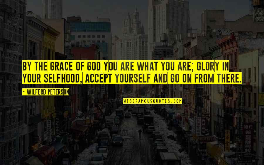 Grace From God Quotes By Wilferd Peterson: By the grace of God you are what