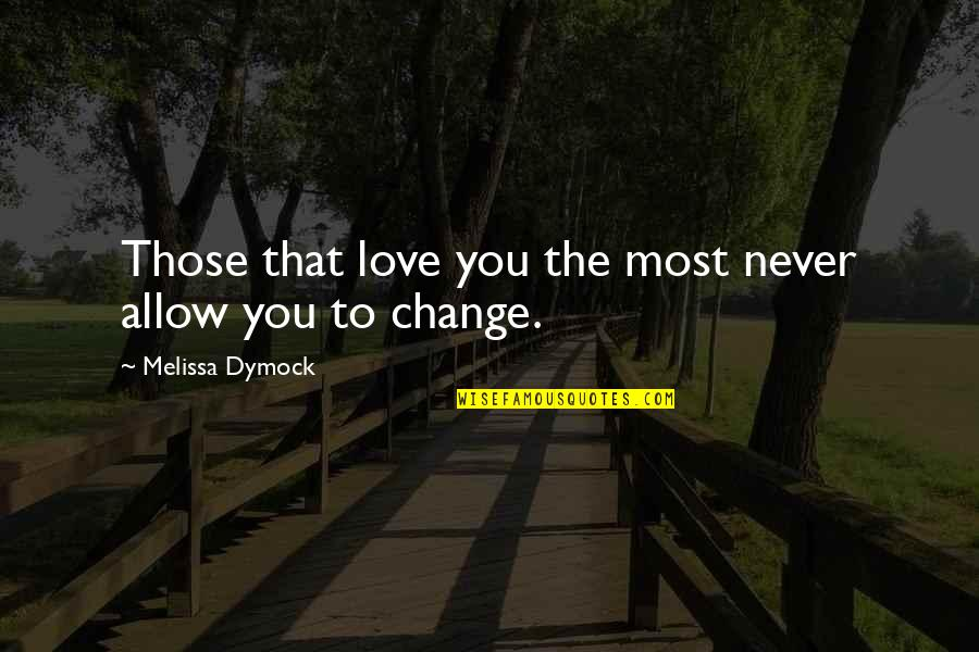 Grandfathers Passing Away Quotes By Melissa Dymock: Those that love you the most never allow