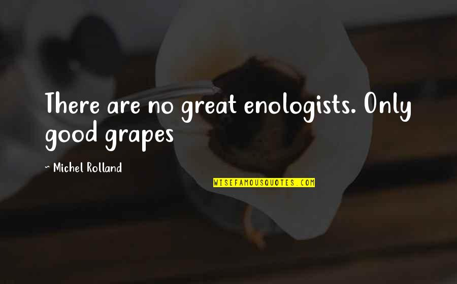Grapes And Wine Quotes By Michel Rolland: There are no great enologists. Only good grapes