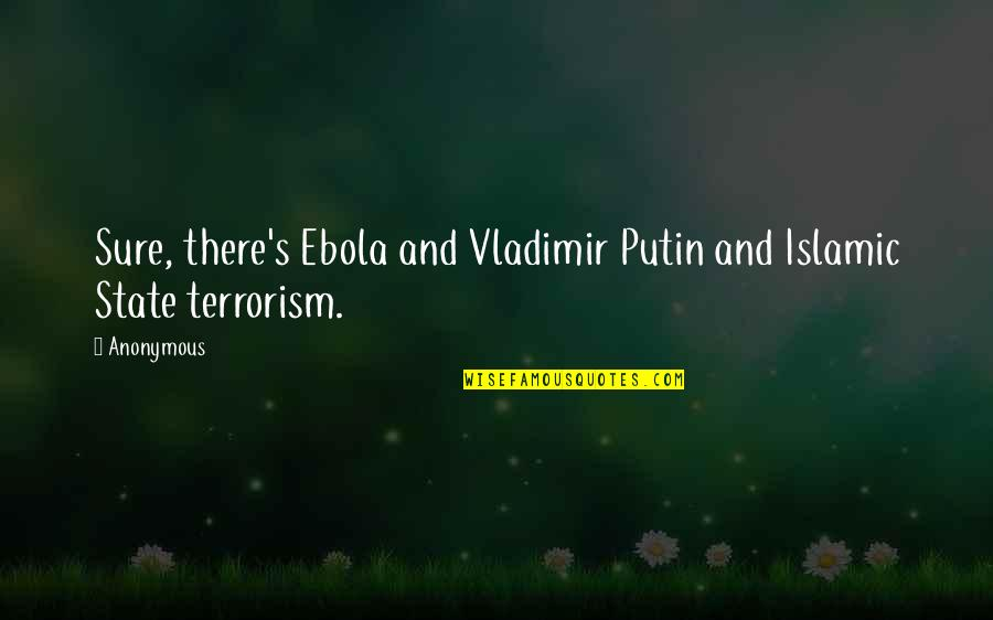 Grasshopper Kung Fu Movie Quotes By Anonymous: Sure, there's Ebola and Vladimir Putin and Islamic