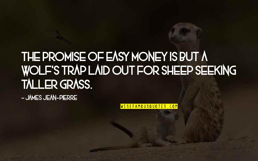 Grass's Quotes By James Jean-Pierre: The promise of easy money is but a