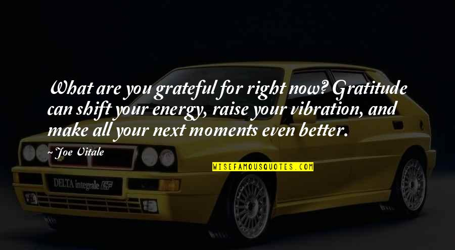 Grateful For You Quotes By Joe Vitale: What are you grateful for right now? Gratitude