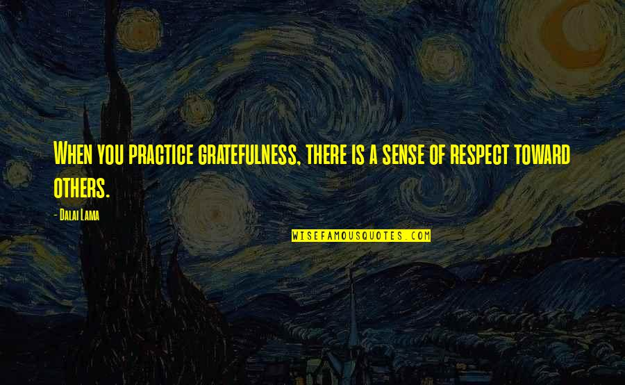 Gratefulness Quotes By Dalai Lama: When you practice gratefulness, there is a sense
