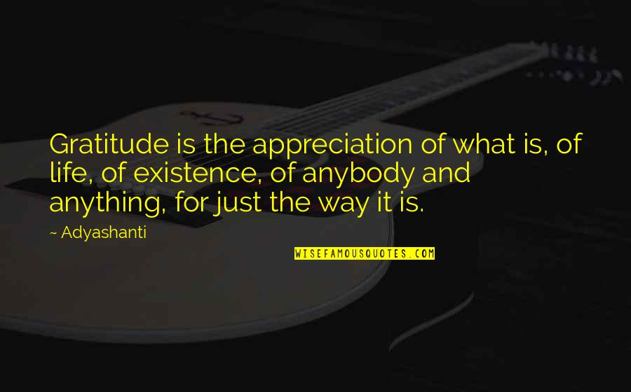 Gratitude For Life Quotes By Adyashanti: Gratitude is the appreciation of what is, of