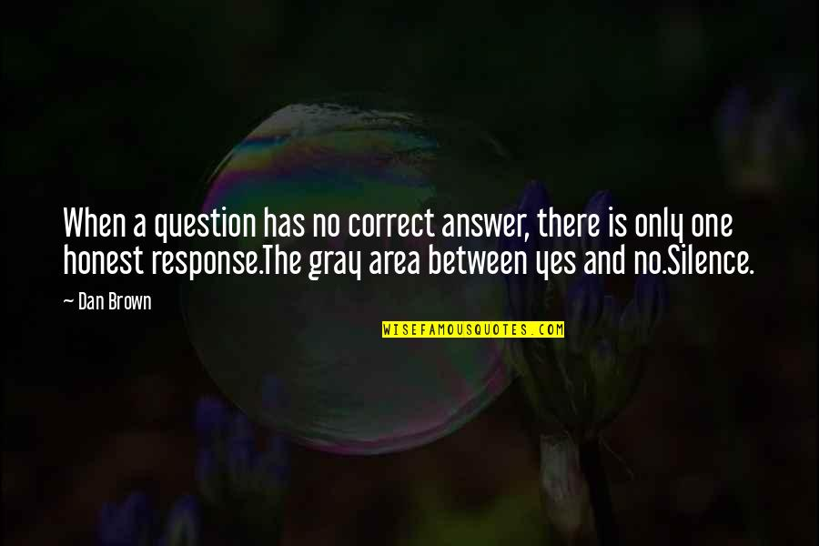 Gray Area Quotes By Dan Brown: When a question has no correct answer, there