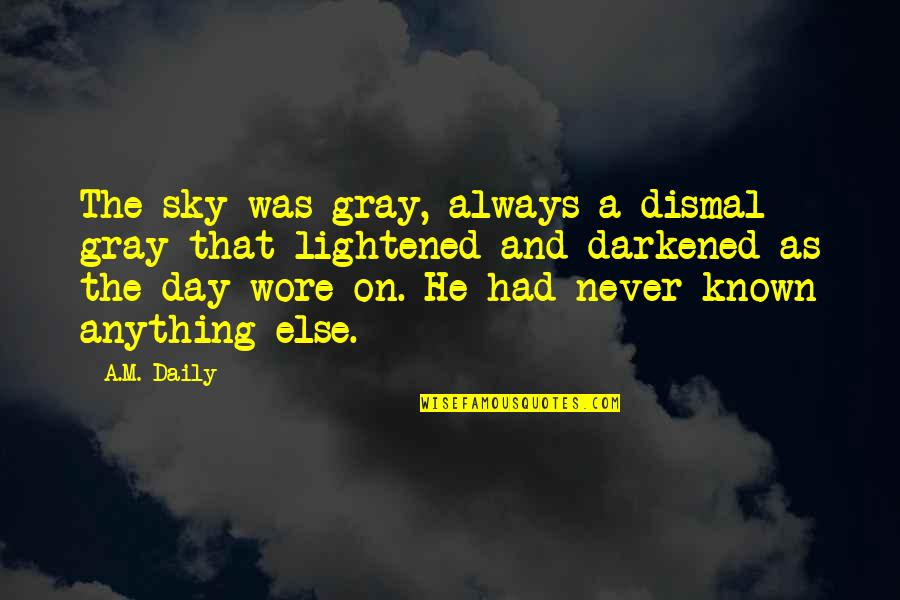 Gray Sky Quotes By A.M. Daily: The sky was gray, always a dismal gray