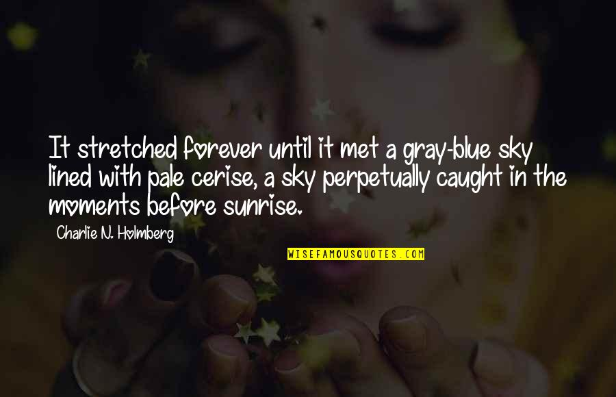 Gray Sky Quotes By Charlie N. Holmberg: It stretched forever until it met a gray-blue