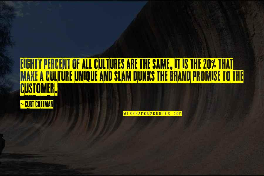 Great Brand Strategy Quotes By Curt Coffman: Eighty percent of all cultures are the same,