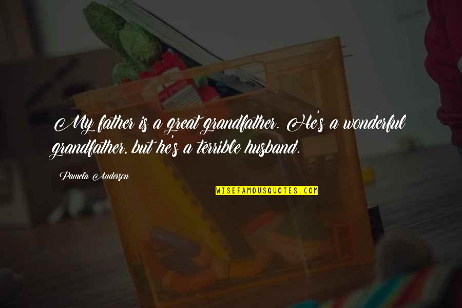 Great Father Husband Quotes By Pamela Anderson: My father is a great grandfather. He's a