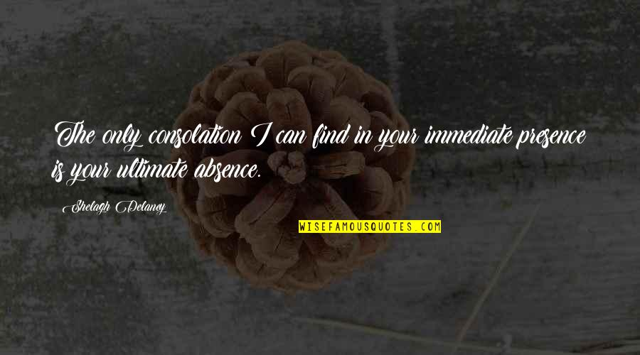 Great Gatsby Important Quotes By Shelagh Delaney: The only consolation I can find in your