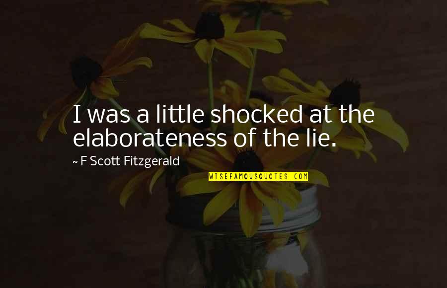 Great Gatsby Quotes By F Scott Fitzgerald: I was a little shocked at the elaborateness