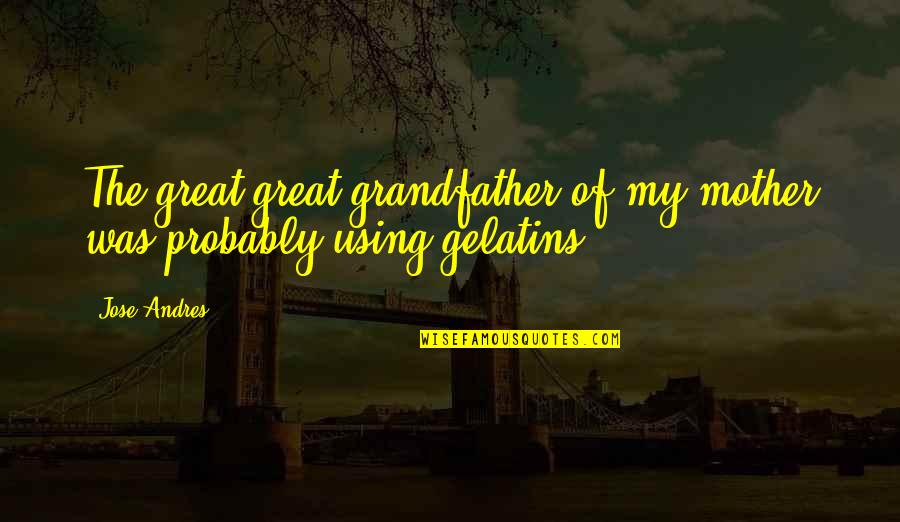 Great Mother Quotes By Jose Andres: The great-great-grandfather of my mother was probably using