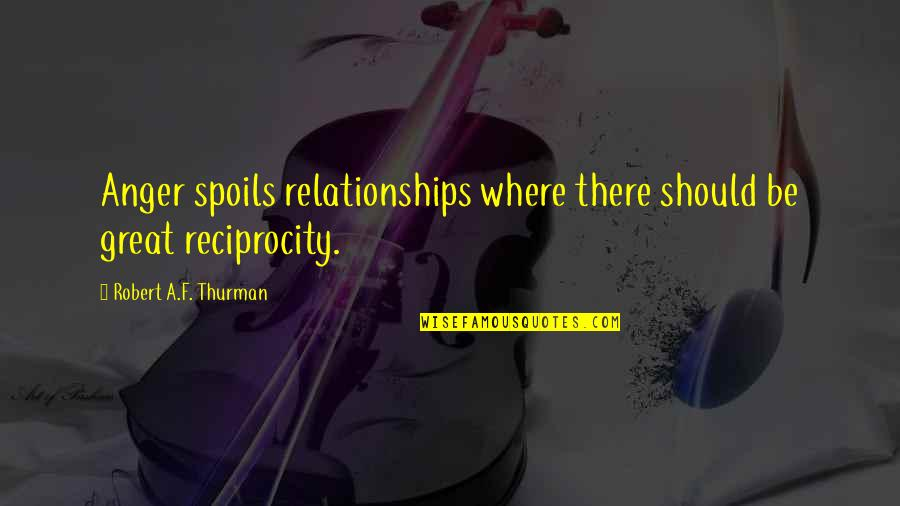 Great Relationships Quotes By Robert A.F. Thurman: Anger spoils relationships where there should be great
