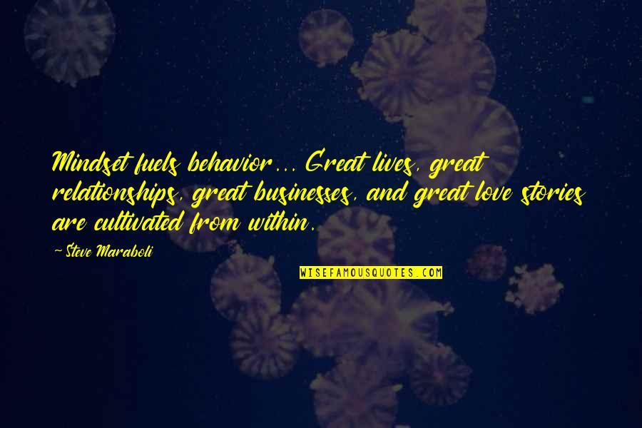 Great Relationships Quotes By Steve Maraboli: Mindset fuels behavior... Great lives, great relationships, great
