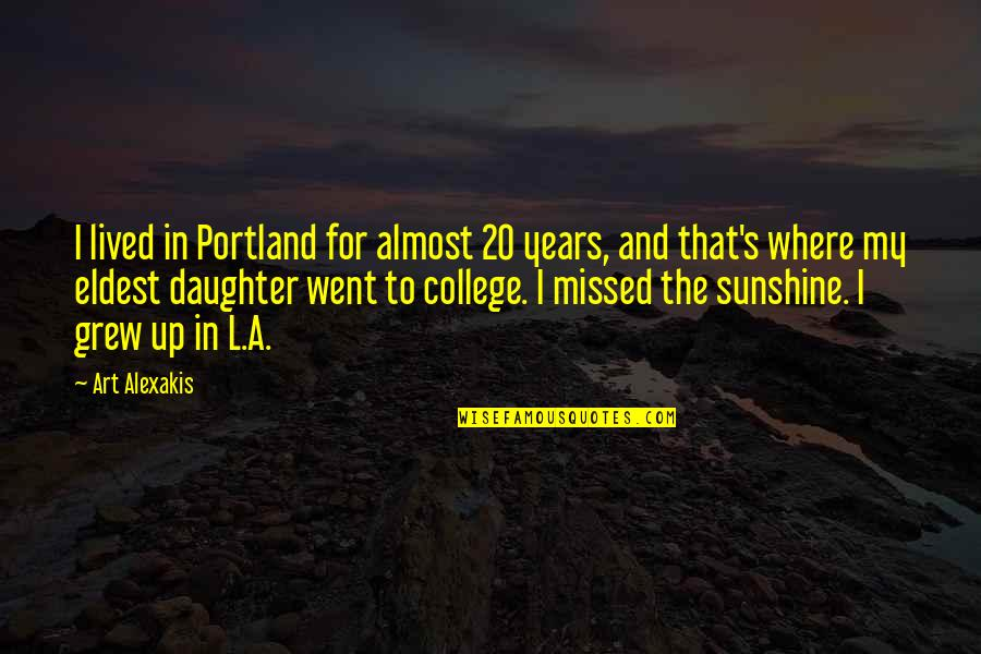 Greatest Investment Quotes By Art Alexakis: I lived in Portland for almost 20 years,