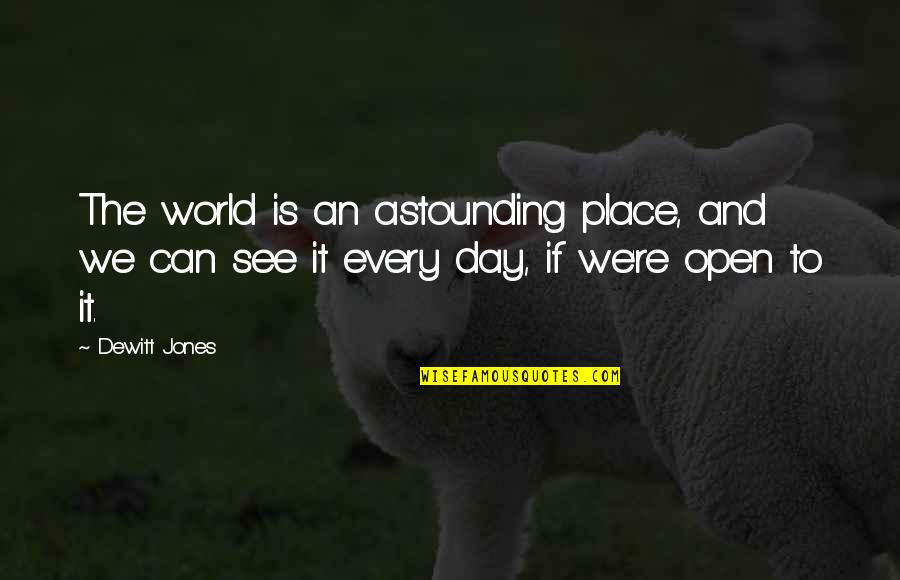 Greatness And Humility Quotes By Dewitt Jones: The world is an astounding place, and we