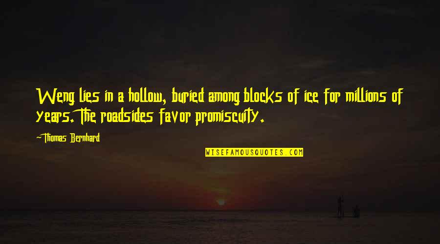 Greek Goddess Athena Quotes By Thomas Bernhard: Weng lies in a hollow, buried among blocks