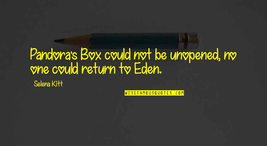 Greek Mythology Quotes By Selena Kitt: Pandora's Box could not be unopened, no one