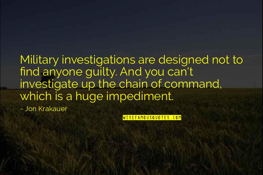 Green Street 3 Quotes By Jon Krakauer: Military investigations are designed not to find anyone