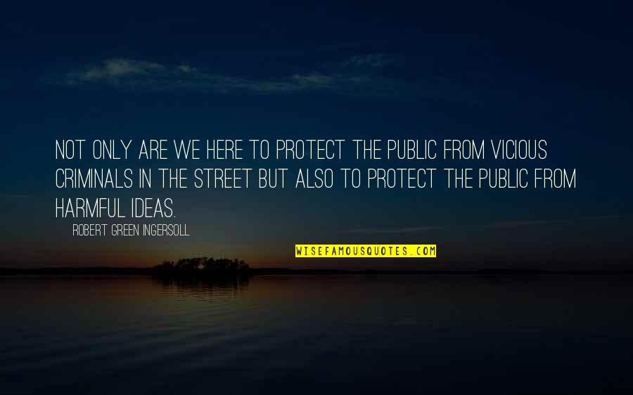 Green Street 3 Quotes By Robert Green Ingersoll: Not only are we here to protect the