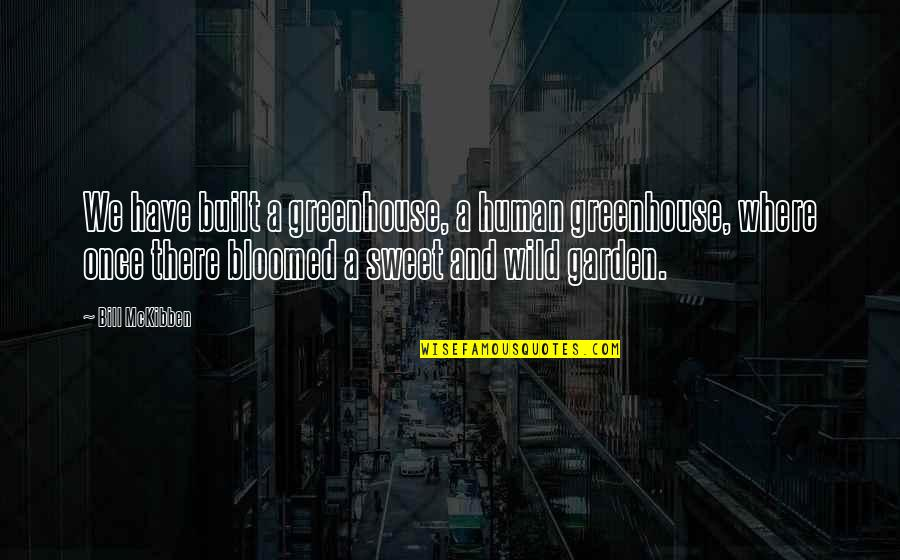 Greenhouses Quotes By Bill McKibben: We have built a greenhouse, a human greenhouse,