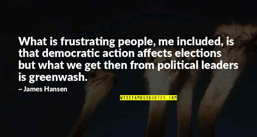Greenwash Quotes By James Hansen: What is frustrating people, me included, is that
