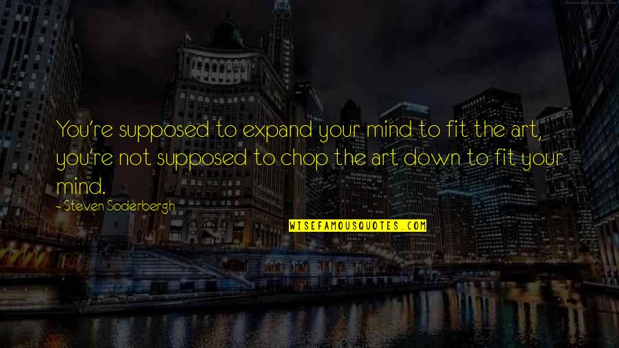 Greeting Good Morning Quotes By Steven Soderbergh: You're supposed to expand your mind to fit