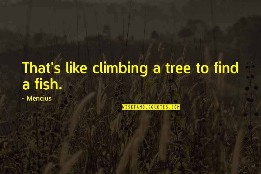 Gretel Ehrlich Quotes By Mencius: That's like climbing a tree to find a