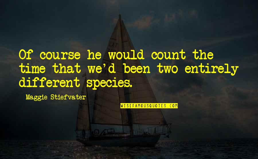 Grey's Anatomy Support System Quotes By Maggie Stiefvater: Of course he would count the time that