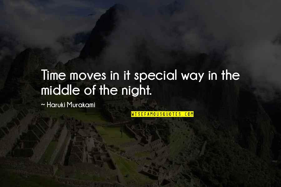 Grieving Quotes And Quotes By Haruki Murakami: Time moves in it special way in the
