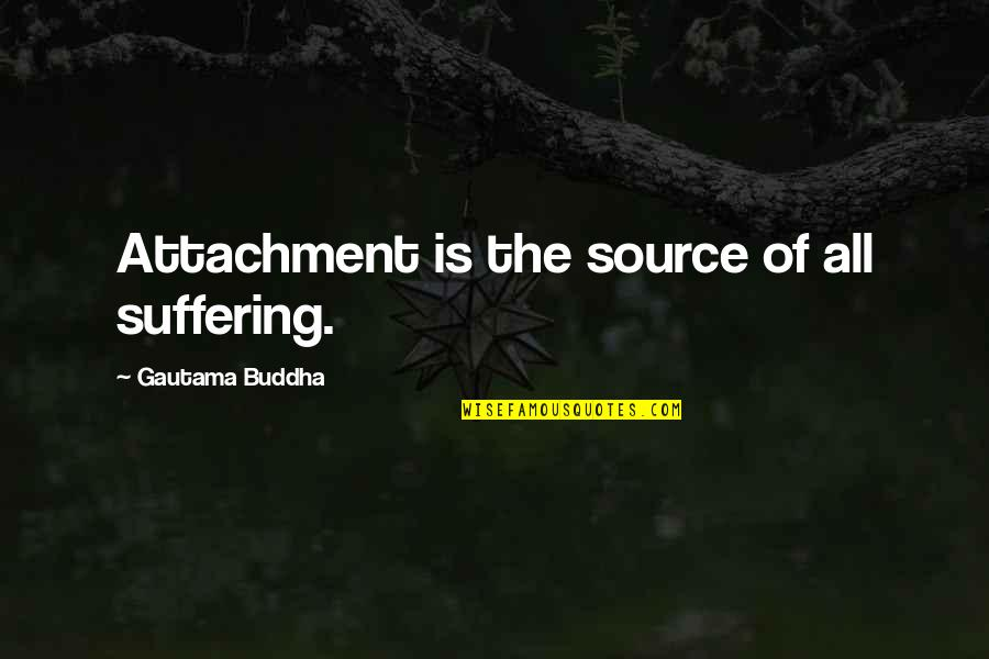 Grieving Quotes By Gautama Buddha: Attachment is the source of all suffering.