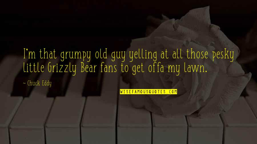 Grizzly's Quotes By Chuck Eddy: I'm that grumpy old guy yelling at all