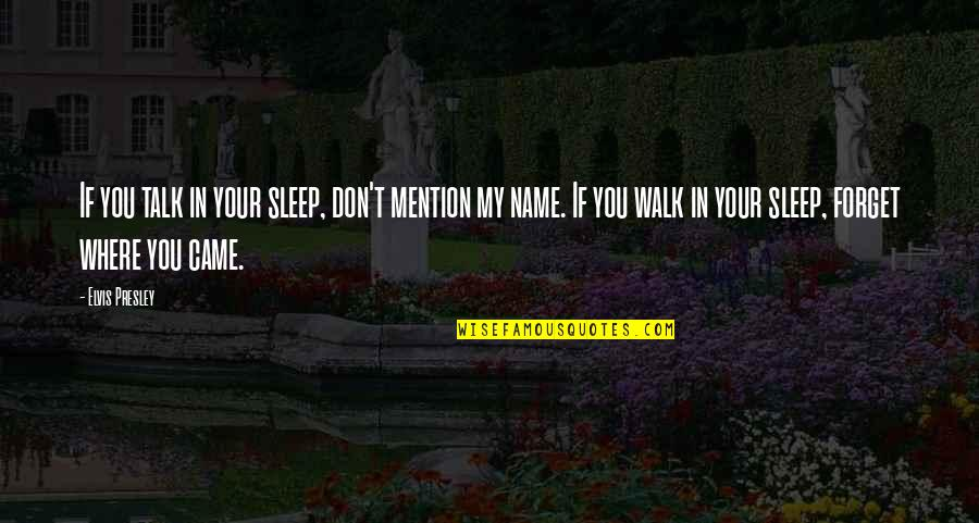 Grotton's Quotes By Elvis Presley: If you talk in your sleep, don't mention
