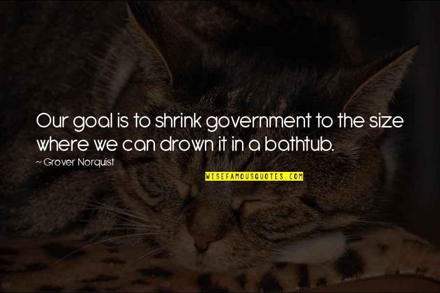 Grover Norquist Quotes By Grover Norquist: Our goal is to shrink government to the