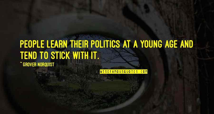 Grover Norquist Quotes By Grover Norquist: People learn their politics at a young age