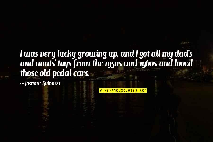 Growing Up Without A Dad Quotes By Jasmine Guinness: I was very lucky growing up, and I