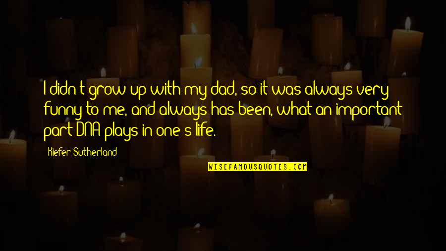 Growing Up Without A Dad Quotes By Kiefer Sutherland: I didn't grow up with my dad, so