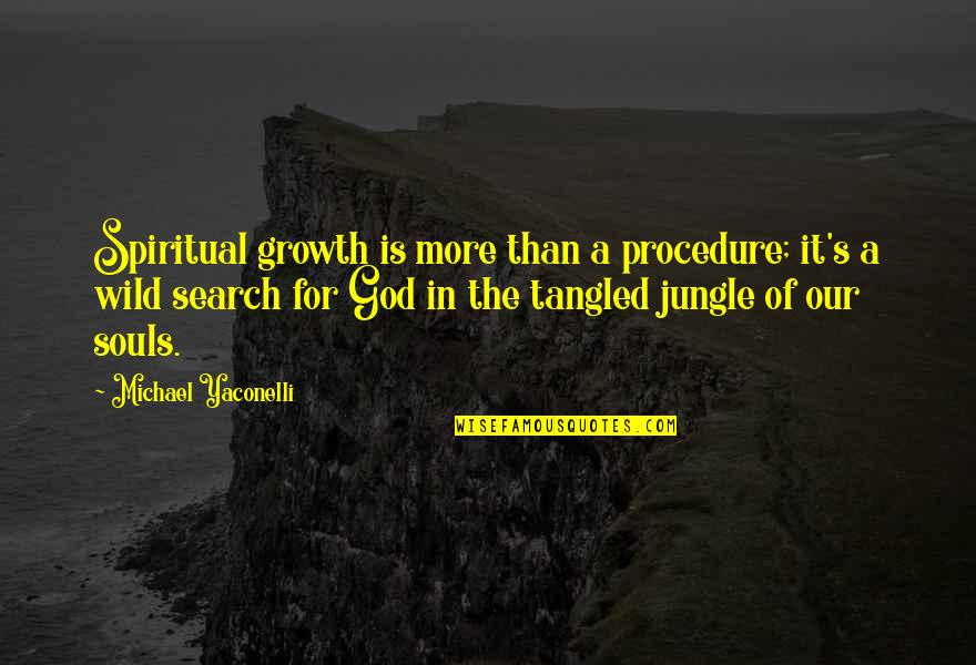 Growth In God Quotes By Michael Yaconelli: Spiritual growth is more than a procedure; it's