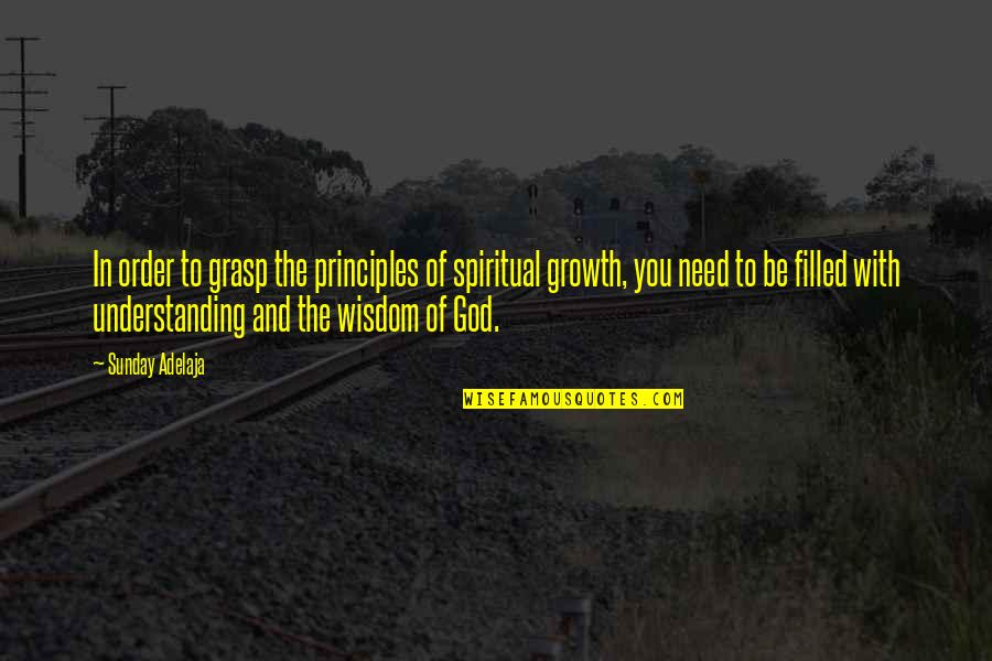 Growth In God Quotes By Sunday Adelaja: In order to grasp the principles of spiritual